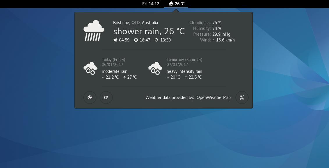 Best Weather Apps For Ubuntu And Mint Linux Lintut Linux Howtos Tutorials Guides
