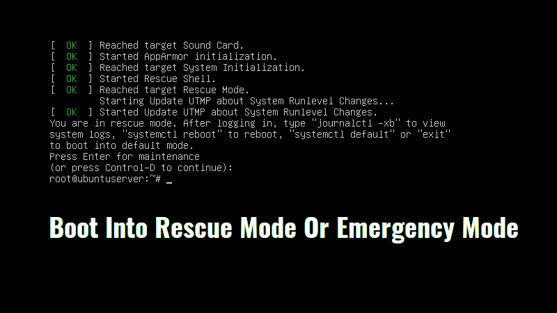 Photo of How to Boot into Single User Mode in CentOS/RHEL 8